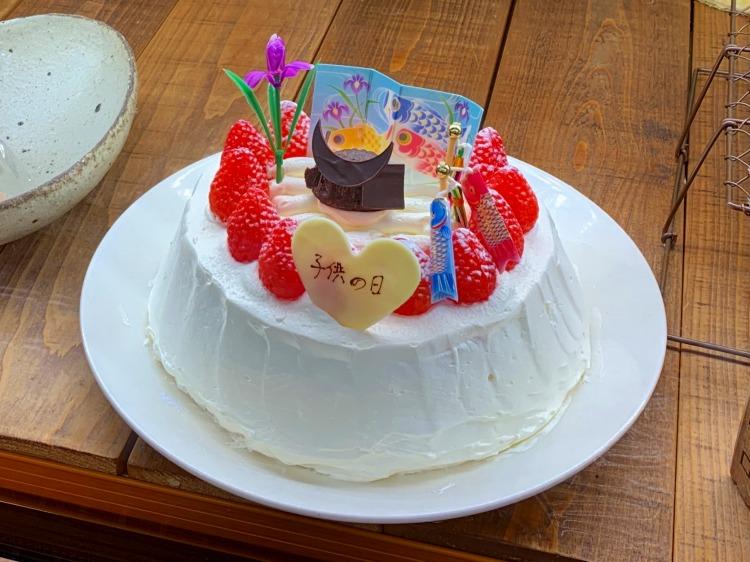 空気ケーキのこどもの日ケーキ