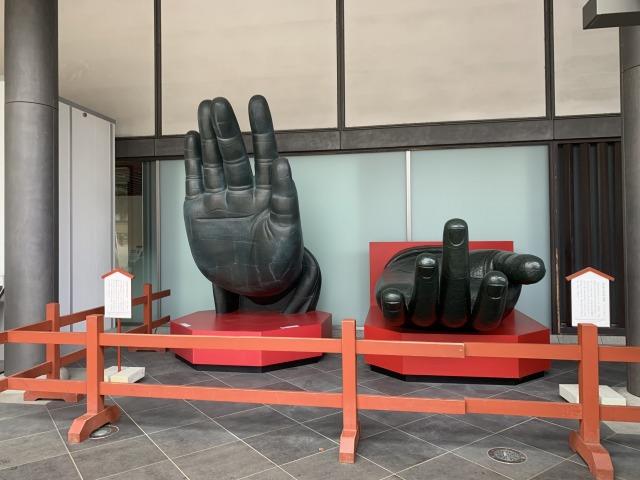 大仏様の手